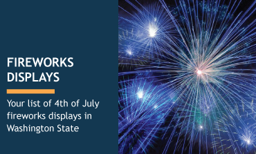 list of 4th of July fireworks displays in Washington State