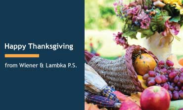 Happy Thanksgiving from Wiener & Lambka
